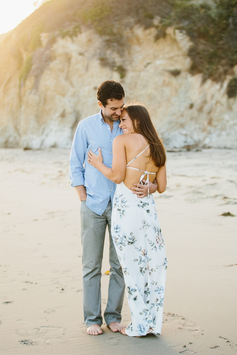 malibu beach engagement photographers