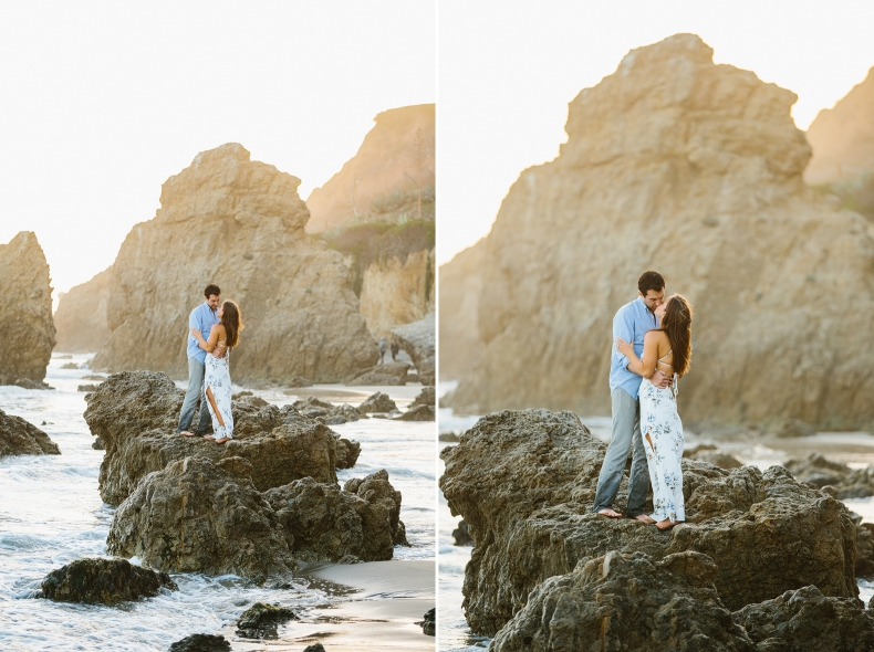 romantic california beach engagement